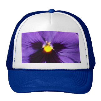 French Navy Blue Pansy Cap
