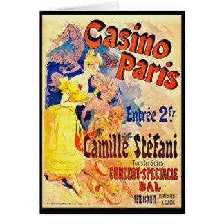 French Nightclub Ad 1891 Card