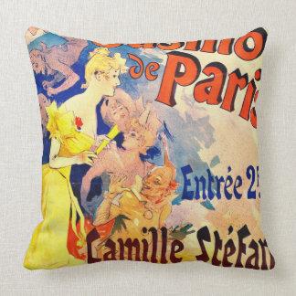 French Nightclub Ad 1891 Throw Cushion