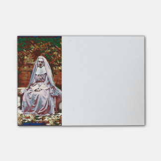 French Nun in the Garden of Contemplation Post-it® Notes