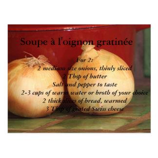 French Onion Soup au gratin Postcard