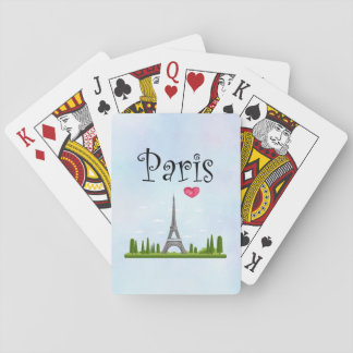 French Paris with Eiffel Tower Playing Cards