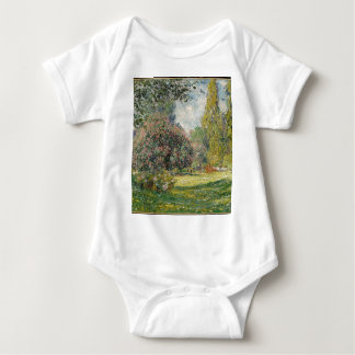 French park during the day baby bodysuit