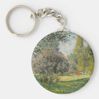 French park during the day key ring