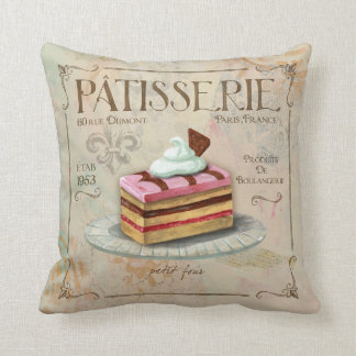 French Patisserie Pillow decor Petit Four