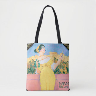 French Perfume Vintage Advertisement Tote Bag