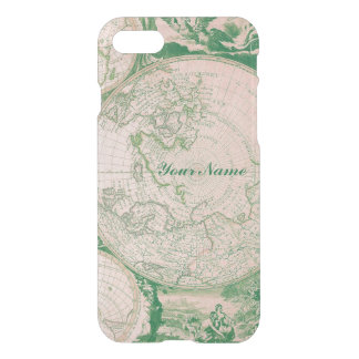 French Pink Green World Map for Samsung Galaxy iPhone 7 Case