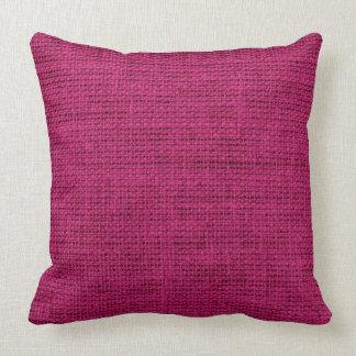 French plum Burlap Rustic Linen Cushion