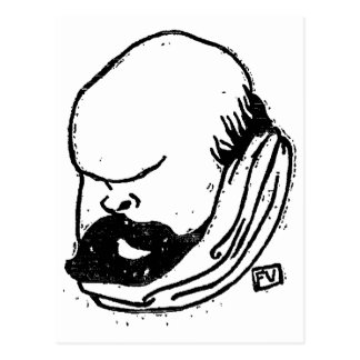 French poet Paul Verlaine by Felix Vallotton Postcard