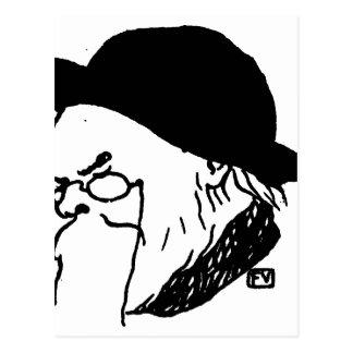 French poet Paul Verlaine from Le Livre des masque Postcard