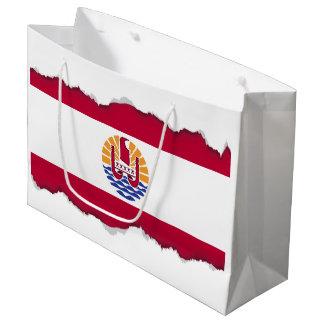 French Polenysia flag Large Gift Bag