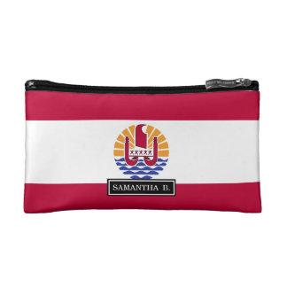 French Polenysia flag Makeup Bags