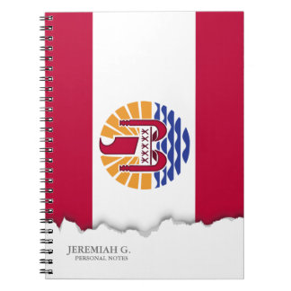 French Polenysia flag Notebook