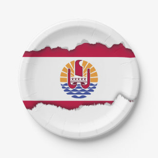 French Polenysia flag Paper Plate