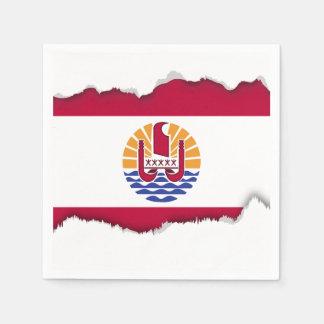 French Polenysia flag Paper Serviettes