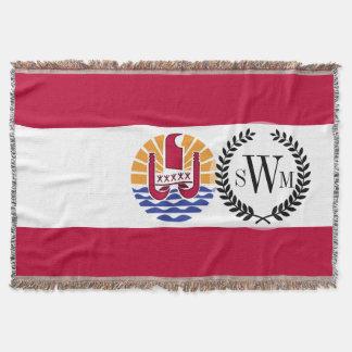 French Polenysia flag Throw Blanket