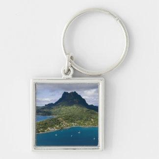 French Polynesia, Bora Bora. Aerial view of Key Ring
