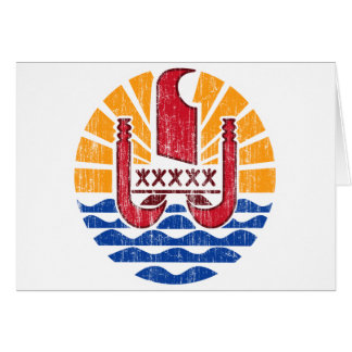 French Polynesia Coat Of Arms Card