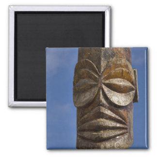 French Polynesia, Cook Islands, Rarotonga, Square Magnet