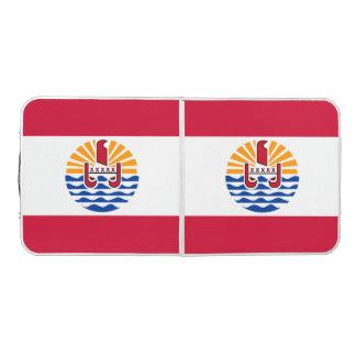 French Polynesia Flag Beer Pong Table