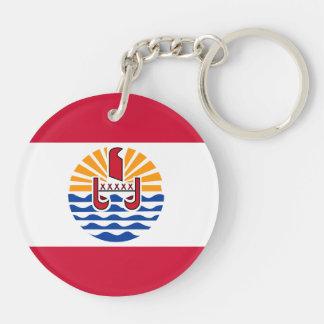 French Polynesia Flag Key Ring