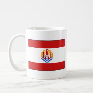 French Polynesia Flag ~ Map Mug