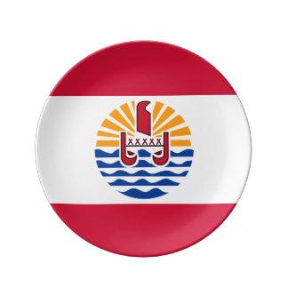 French Polynesia Flag Plate