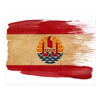 French Polynesia Flag Postcards