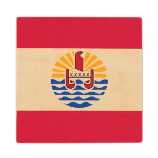 French Polynesia Flag Wood Coaster