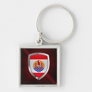 French Polynesia Mettalic Emblem Key Ring
