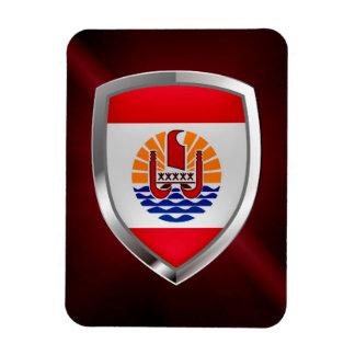French Polynesia Mettalic Emblem Magnet