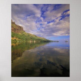 French Polynesia, Moorea. Cooks Bay. Cruise ship 2 Poster
