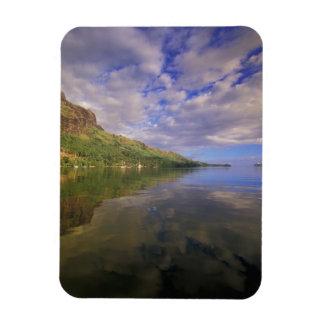 French Polynesia, Moorea. Cooks Bay. Cruise ship 2 Rectangular Photo Magnet