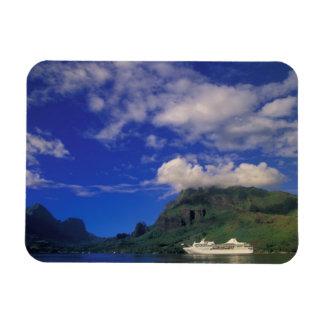 French Polynesia, Moorea. Cooks Bay. Cruise ship 3 Rectangle Magnet