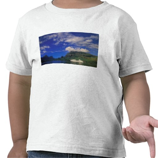 French Polynesia, Moorea. Cooks Bay. Cruise ship 3 T-shirts