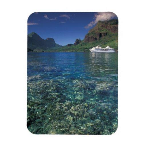 French Polynesia, Moorea. Cooks Bay. Cruise ship Flexible Magnet