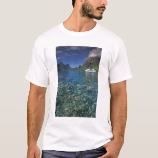 French Polynesia, Moorea. Cooks Bay. Cruise ship T-Shirt