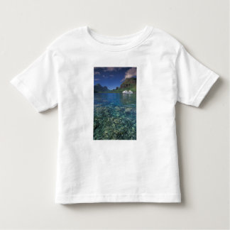 French Polynesia, Moorea. Cooks Bay. Cruise ship Toddler T-Shirt