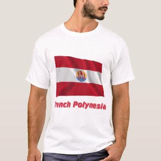 French Polynesia Waving Flag with Name T-Shirt