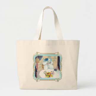 French Poodle Cupcake Tea Party Jumbo Tote Bag