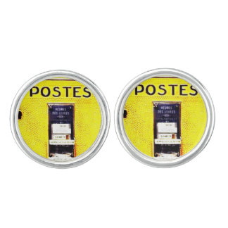 French Postbox Cufflinks (Silver Plated)
