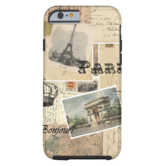 French Postcard Collage Tough iPhone 6 Case