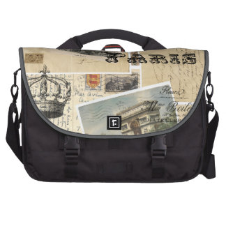 French Postcard Collage Laptop Sleeve Bags For Laptop