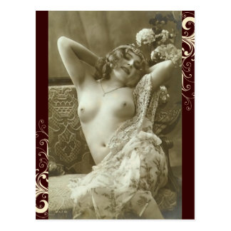 French Postcard - Risque Nude