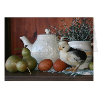 French Poultry, Pears & Porcelain Notecard