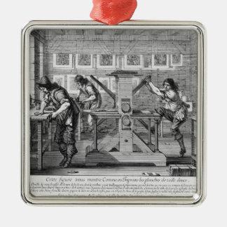 French printing press, 1642 metal ornament