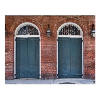 French Quarter Doorways Postcard
