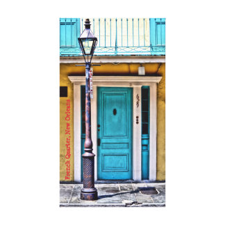 French Quarter Lamp Post Wrapped Canvas