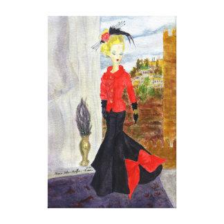 French Quarter:  MatisseFashion Watercolor Canvas Print