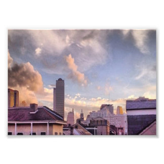 French Quarter on Cloudy Day Photo Print
